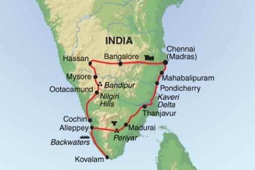 South India Map Notdunroamin Travel Blog